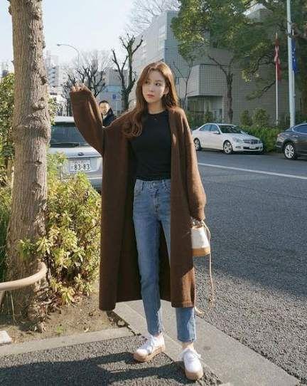 48 trendiga mode hijab stil ootd skor |  Koreanskt gatumode.