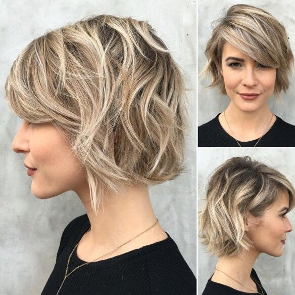 22 trendiga korta hårklippningsidéer för 2020: rakt, lockigt hår.