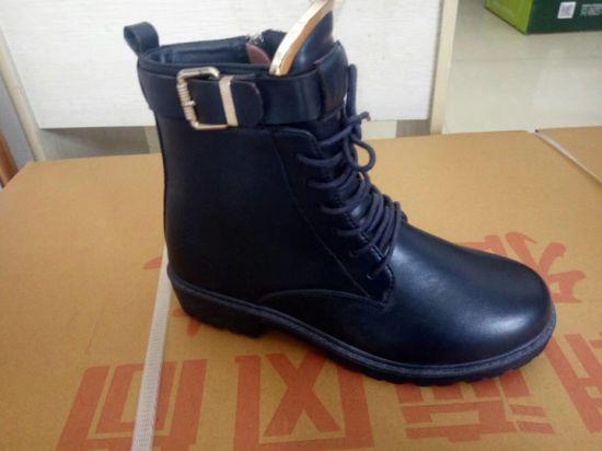 China Lady Fashion Boots Flat Shoes Dam / damskor, vinter.