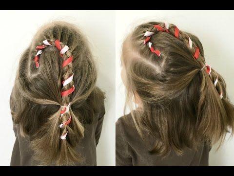 Candy Cane Frisyr - för kort eller långt hår |  12 flätor av.