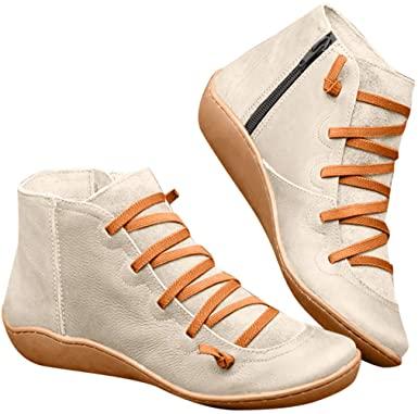 Amazon.com: ModaParis kvinnors sportiga stövlar bekväma halkfria fotled.