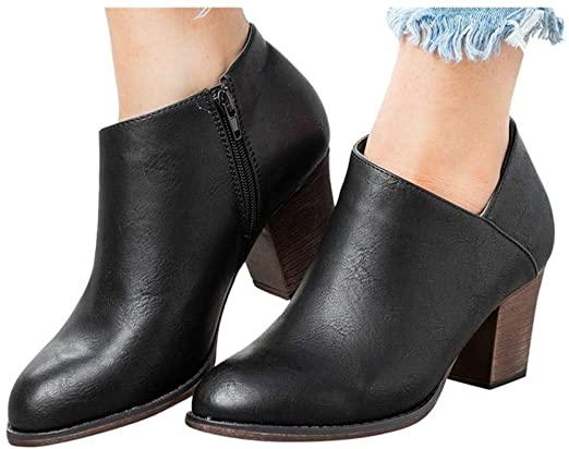 Amazon.com: Hemlock högklackade ankelstövlar, damskor för kvinnor.