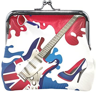 Amazon.com: Kvinnor söt plånbok glasögon gitarrskor myntväska.