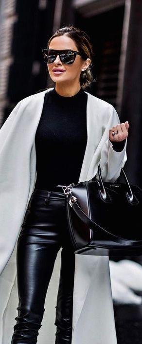 vinterbyxor 2019 50+ bästa outfits    Läderbyxor, mode.