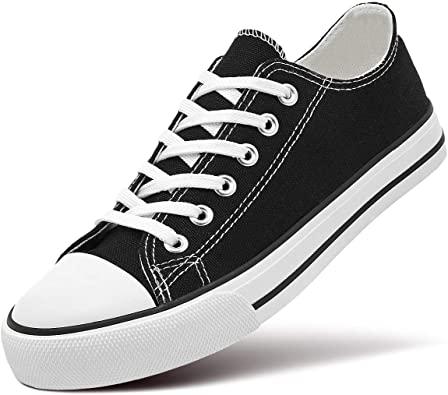 Amazon.com |  ZGR Dam Canvas Låga Sneaker Snörning Classic.