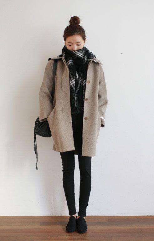 15 trendiga snygga vinterkläder för värmande kropp |  Mode coréenne.
