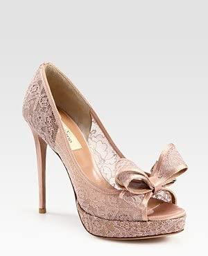 Amazon.com    Valentino Lace Couture Bow Pumps för kvinnor - Svart    Sho