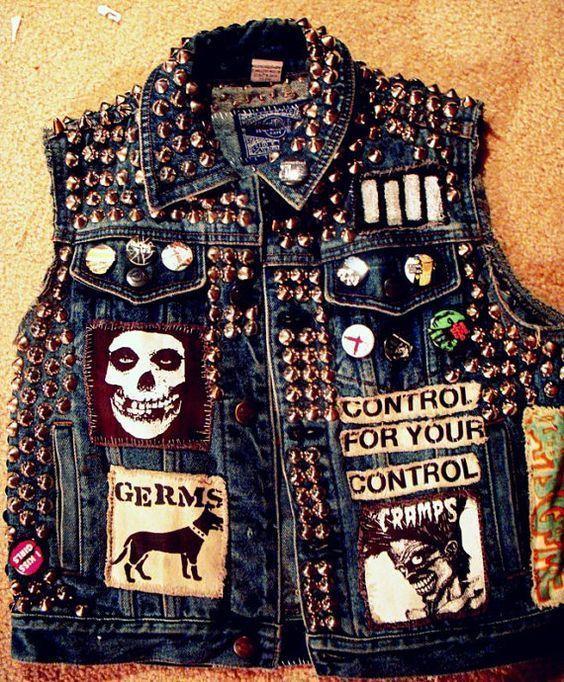 Punk Vest Style 54    Punk jeans, Punk jackor, Pu