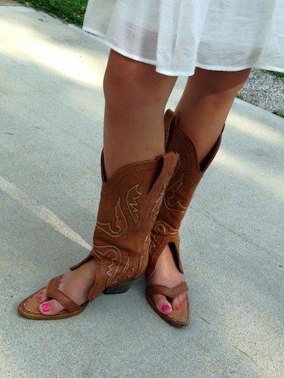 Cowboy Boot Sandals är den galnaste sommarmode Tre