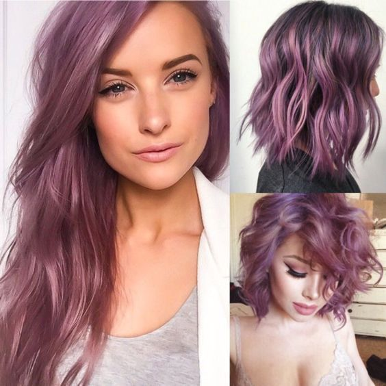 15 Awesome Trendy Mauve Hair Color 2018 för fantastisk utseende.