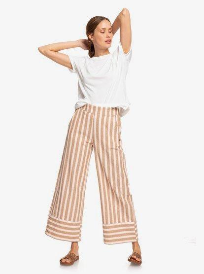 Wild Ideas Wide Leg Linne Pants 192504423932 |  Ro