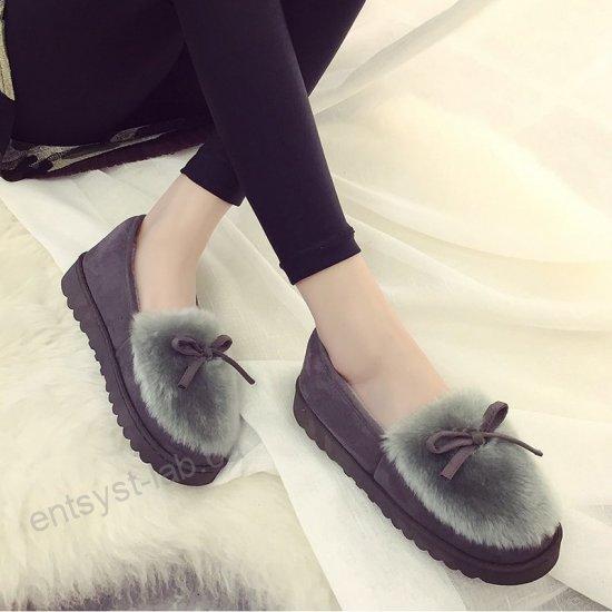 Kläder, skor och accessoarer Tofflor Vintervarm päls för kvinnor.