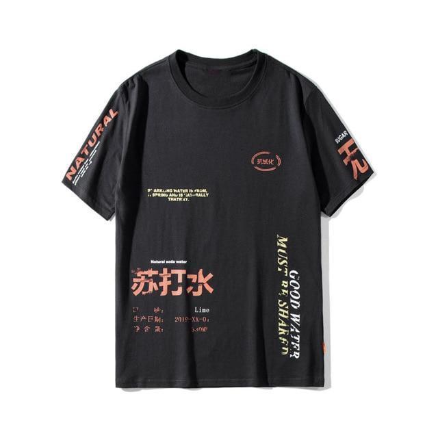 Text Print Grafisk T-shirt    Streetwear på Before the High Stre