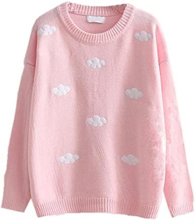 Packitcute lösa stickade tröjor för juniorflickor höstvinter.
