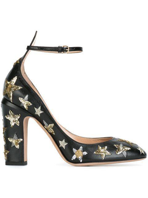 Designer Pumps för kvinnor |  Svarta skor klackar, dubbade pumpar, svart.