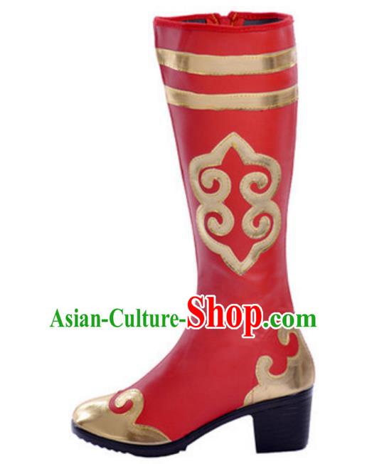 Traditionella kinesiska mongoliska dansskor, uigurisk minoritetsfolk.