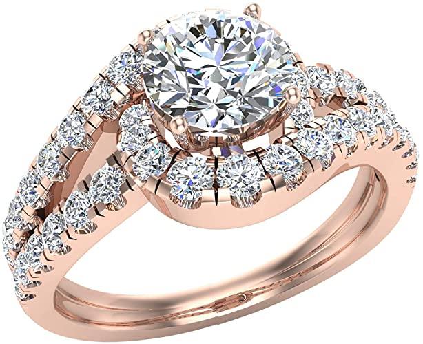Amazon.com: Förlovningsringar för kvinnor 14K guld diamantringar.