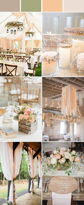 Topp 10 eleganta och eleganta rustika bröllopsfärgidéer |  Persika bröllop.