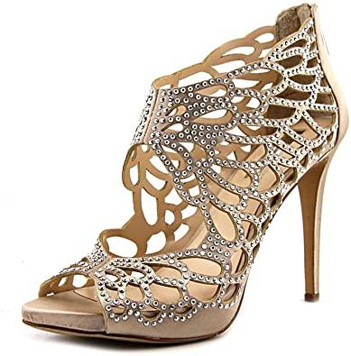 Amazon.com    INC Dam Sarane Satin Stiletto Evening Sandals.