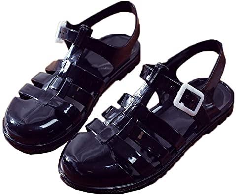 Amazon.com |  Yehopere Jelly Sandaler för damer T-rem Slingback.
