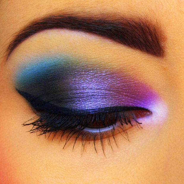 101 Galaxy-inspirerade ögonmakeupidéer |  Snygg smink, Makeup, Öga.