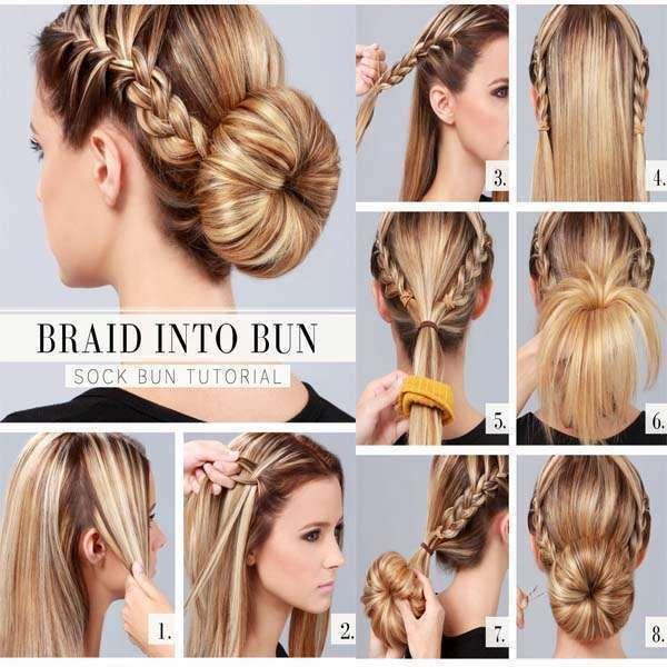 9 vackraste frisyrhandledning |  Bun frisyrer för länge.