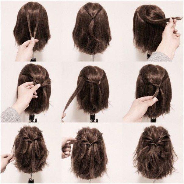 Vackra enkla frisyrer för kort hår - sommar - bästa korta.