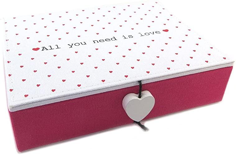 Amazon.com: Smyckenfodral 'Mots D'amour' svart fuchsia (allt du.