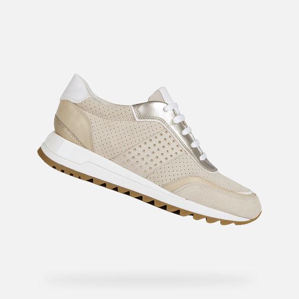 Geox TABELYA Woman: Cream Sneakers |  Geox SS