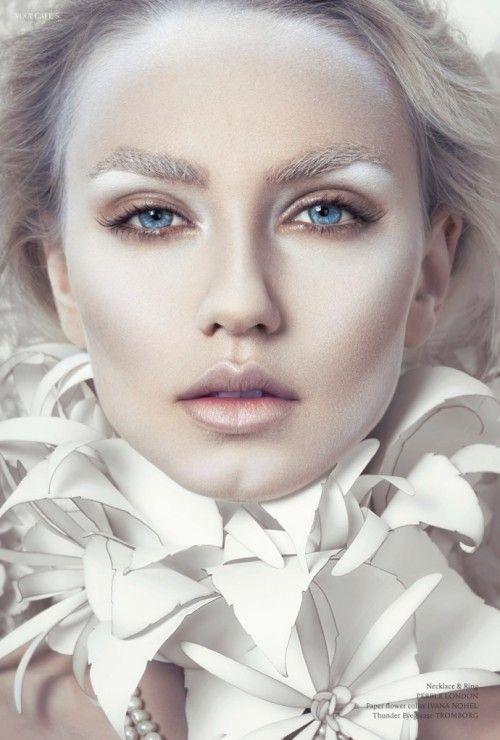 25 enkla och vackra look ängel smink idéer |  Redaktionellt smink.