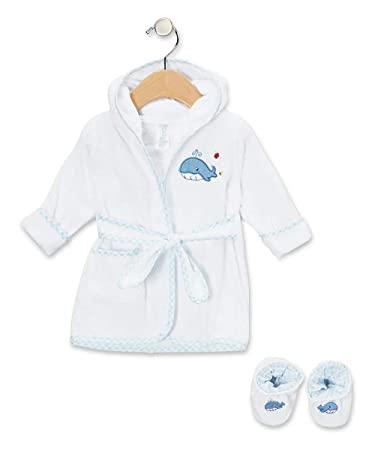Amazon.com: Spasilk badrock med 100% bomull med huva och byxor.
