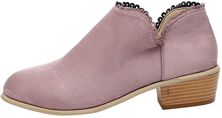 Amazon.com |  vermers Kvinnor Mode rund tå stövlar - Kvinnor klassiska.