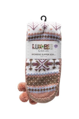 LUK-EES av MUK LUKS® Slipper strumpor för damer - bland menards