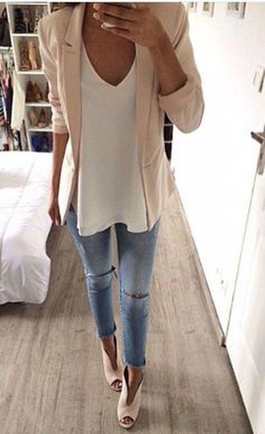 Enkla och avslappnade vårkläder Idéer 17 |  Mode kläder kvinnor.