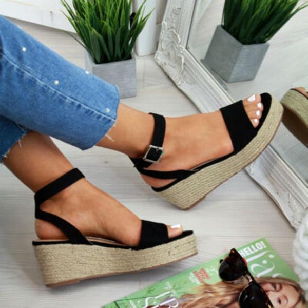 Damskor - Sandaler för kvinnor NYA Sommarkilar Platform Sandaler.
