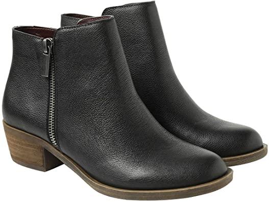 Amazon.com    kensie svart läder Ghita korta stövletter för kvinnor.