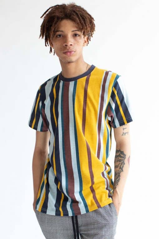 Ice Flow Vertical Striped T-Shirt - Ragsto