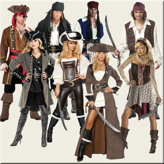 hemlagad-pirat-kostymer.jpg (550 × 550) |  Kvinnlig piratdräkt.
