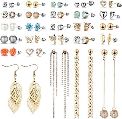 Amazon.com: 29 par diverse multipla örhängen för kvinnor.