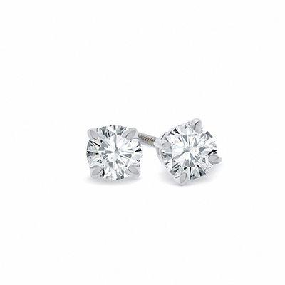 1 CT.  TW Certified Diamond Solitaire Örhängen i 18K vit.