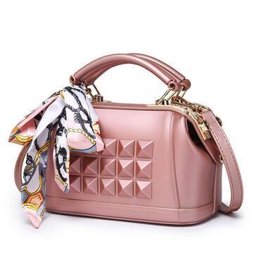 Kina PVC Lady Designer gummi plast godis gelé handväskor.