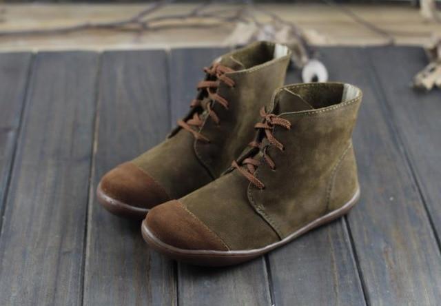 Imter damstövlar barfota skor Plus storlek 100% äkta läder.