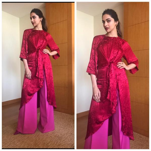 Röd och rosa: Den VARMA färgkombinationen följt av Bollywood.