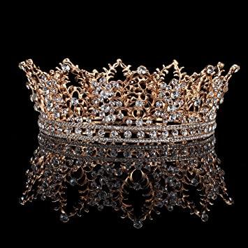 Amazon.com: FUMUD Bridal Jewelry Barock Tiara Crown Women.