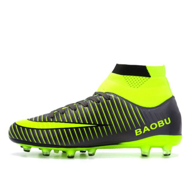 Leoci Hot Sale Mens Big Size Soccer Cleats High Ankle Football.