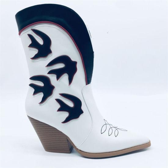 Kina Mode Damskor Damskor Designer Lady Ankle Chunky.