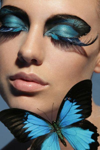 Vacker Butterfly Fantasy Eye Makeup |  Fjärilsmakeup.