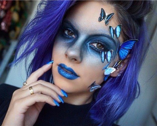 Butterfly Fantasy Make Up |  Karnevalsmink, fjärilsmink.