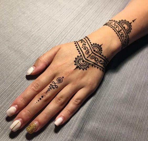 Tatueringar 2020 |  Henna tatuering design hand, Henna tatuering mönster.