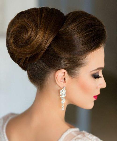Vackra High Bun Wedding Updo Frisyrer - fashiondiys.com i.
